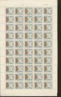 1040  Folklore  Opsinjoorke    De 1957  Superbe Feuille De 50 Ex - Full Sheets