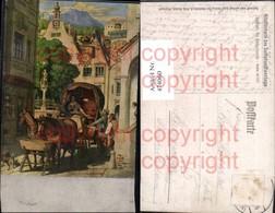 474060,Künstler Ak Schwind Die Hochzeitsreise Kutsche Pub Verlag Für Volkskunst - Taxi & Carrozzelle