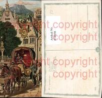 474058,Künstler Ak M. V. Schwind Die Hochzeitsreise Kutsche - Taxi & Carrozzelle