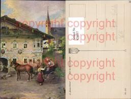 474057,Künstler Ak L. Blume-Siebert Auf Der Hochzeitsreise Kutsche Pferdekutsche - Taxi & Carrozzelle