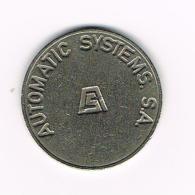 °°°  JETON  AUTOMATIC SYSTEMS. S.A. 2 - Professionali/Di Società