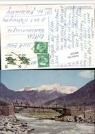 496329,India Jammu Und Kashmir Lidder Valley Pahalgam Brücke Bergkulisse - Indien