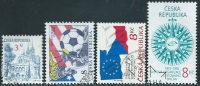 Repubblica Ceca 1994/5 Usato - Mi.35;45;61/2  Yv.34;43;60/1 - Repubblica Ceca