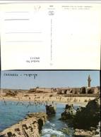 496313,Israel Caesarea Ruins Of Old Harbour Strand Küste - Israel
