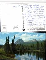 496663,Alberta Banff Mount Eisenhower See Bergkulisse - Alberta