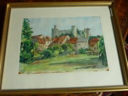 Ancien Tableau L.CLEMENT 1973 - Gouaches
