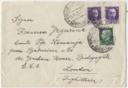 Italy Letter Cover Travelled 1936 Gorizia To London B160802 - 1900-44 Vittorio Emanuele III