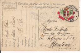 R.ESERCITO ITALIANO,FRANCHIGIA,POSTA MILITARE 94- 97' BATTERIA D'ASSEDIO,ZONA GUERRA, CENSURA, PER MANTOVA - 1914-18