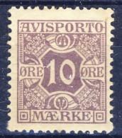 ##K3039. Denmark 1907. Postage Due / AVIS (Newspapers). Michel 4X. MH(*) - Port Dû (Taxe)