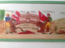 CORRIDA De Toros, Espana, Courses Et Combats De Taureaux - 8 Plaques De Verre Pour Lanterne Magique - Autres Collections