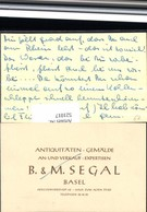 521017,Reklame Beleg Antiquitäten Segal Basel Aeschenvorstadt Schweiz - Werbepostkarten