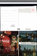 521004,Reklame AK Coca Cola Schild London Bus Autobus - Werbepostkarten