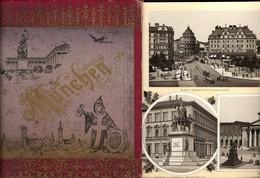 499455,Buch Leporello München Um 1870 Marienplatz Ruhmeshalle Festsaalbau - Ansichtskarten