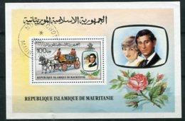 "MAURITANIE : Y&Y (o) BLOC N° 32 "" Mariage Du Prince Charles Et De Lady Diana "" - Familles Royales"