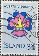 ICELAND 1964 Icelandic Boy Scouts Commemoration - 3k50  Scout Emblem  FU - 1944-... Republik