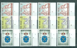 BELGIE - OBP Nr 1246/1248 - Schermen - PLAATNUMMER 1/4 - MNH** - Numéros De Planches