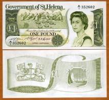 Saint Helena 1 Pound 1981 Pick 9 UNC BANKNOTE CURRENCY  QEII PAPER MONEY - Saint Helena Island