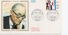 """France FDC    Centenaire Naissance De Le Corbusier """"le Modulor  75 Paris   Y.T. N° 2470 - FDC"""