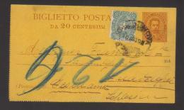 6468-Biglietto Postale Postal Stationery Filagrano B2A Usato - 1900-44 Vittorio Emanuele III