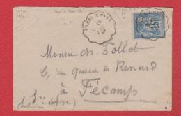 Env Pour Fécamp  --  10 Dec 1882 - Marcophilie (Lettres)