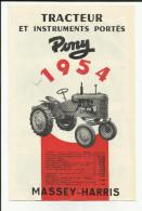 Pub. Tracteur Massey Harris Et Instruments Portés - Illustrations - - Traktoren