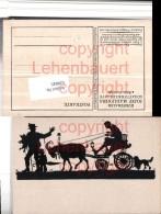 520845,Künstler AK Scherenschnitt Silhouette Josef Madlener Starrköpfe Kutsche - Scherenschnitt - Silhouette