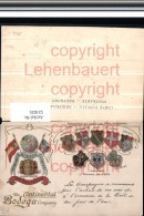 521025,Reklame Präge Litho Wein The Continental Bodega Company Wappen - Werbepostkarten