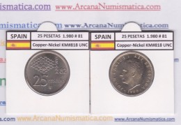 SPAIN /JUAN CARLOS I    25  PESETAS  Cu Ni  1.980 #81    KM#818    SC/UNC     T-DL-9424 - [ 5] 1949-… : Kingdom