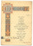 Ancien MENU Du 28 Juillet 1891 - Melle Belliard - JAHAN Angers Rue D´Alsace - Menus