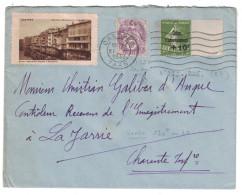 1932 LETTRE Bel Affranchissement Composé Avec CAISSE D´AMORTISSEMENT N° 275 + Complement Blanc + Vignette Castres - 1921-1960: Modern Period