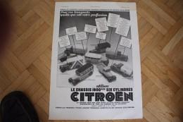 Pub 1931,L´Illusstration Magazine-Automobile, Poids Lourds Citroën / Pub Du Dos,Cigarettes Gitanes - Draps / 38 -28,5 Cm - Publicité