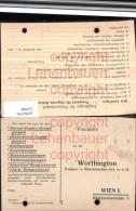 521006,Reklame AK Worthington (Gaming Kienberg) Maschinenbau Wien Bestellkarte - Werbepostkarten