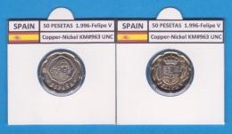 SPAIN /JUAN CARLOS I    50  PESETAS  Cu-Ni 1.996  KM#963  SC/UNC     T-DL-9451 - 50 Pesetas