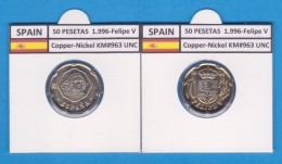SPANJE /JUAN CARLOS I    50  PESETAS  Cu-Ni 1.996  KM#963  SC/UNC     T-DL-9451 - 50 Peseta