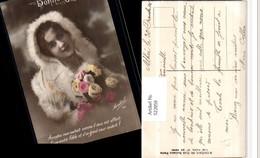 522059,Bonne Annee Pelzmode Frau Rosen Spruch - Fashion