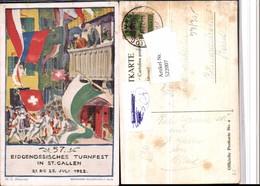 522007,Künstler AK M.G. Bianconi 57. Eidgenössisches Turnfest St. Gallen 1922 - Ausstellungen