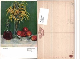 521999,Künstler AK L. Buchmüller Apfelstillleben Äpfel Karaffe Vase Stillleben - Küchenrezepte