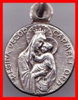 Médaille Religieuse Ancienne ND Notre Dame Du Mont Carmel Argent Silver Catholique Diam 1 Cm - Religion & Esotérisme