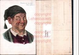 518603,Künstler AK Humor Exzentriker Mütze Typen Dumm San Ma Scho - Humor
