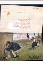 518610,Künstler AK Damenbad Voyeurismus Erotischer Humor Gehstock Erotik - Humor
