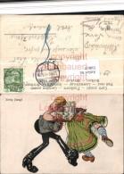518617,Künstler AK Ewig Jung Exzentriker Typen Humor Nachporto Kopenhagen - Humor