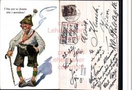 518595,Künstler AK Exzentriker Pfeife Hut Type Humor Rauchen - Humor