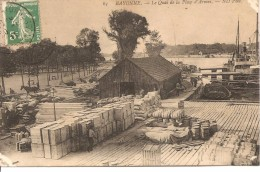 BAYONNE - Le Quai De La Place D'armes - ND 63 - écrite Et Circulée 1911 - - Bayonne