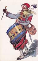 CPA Amicale Anciens Du 1er Zouave De Marche Musique Music Tambour Drum  Caricature Illustrateur FRIP - Regiments