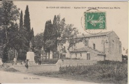 D33 - ST YZAN DE SOUDIAC - EGLISE XIIIe SIECLE ET MONUMENT AUX MORTS - France
