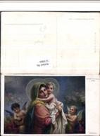 521069,Künstler AK Hans Zatzka Madonna Jesuskind Engeln - Zatzka