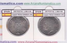 SPAIN /JUAN CARLOS I    100  PESETAS  Cu-Ni 1.980 #80  KM#820  SC/UNC     T-DL-9483 - [ 5] 1949-… : Royaume