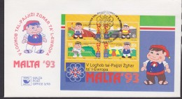 Malta 1993 Sportgames European Small States M/s FDC (F5478) - Malta