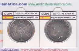 SPANJE /JUAN CARLOS I    100  PESETAS  Cu-Ni 1.980 #80  KM#820  SC/UNC     T-DL-9483 - [ 5] 1949-… : Koninkrijk