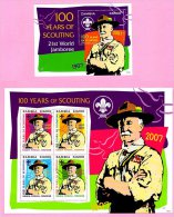 Zm1020 ZAMBIA 2007, SG1020-23 + MS1024, Centenary Of World Scouting (Scouts)  MNH - Zambia (1965-...)